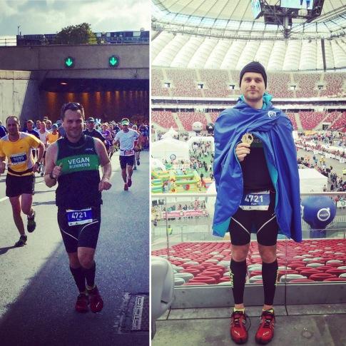 vegan runners maraton warszawski 2015 polska