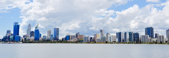 Perth City Panorama Australia Zachodnia