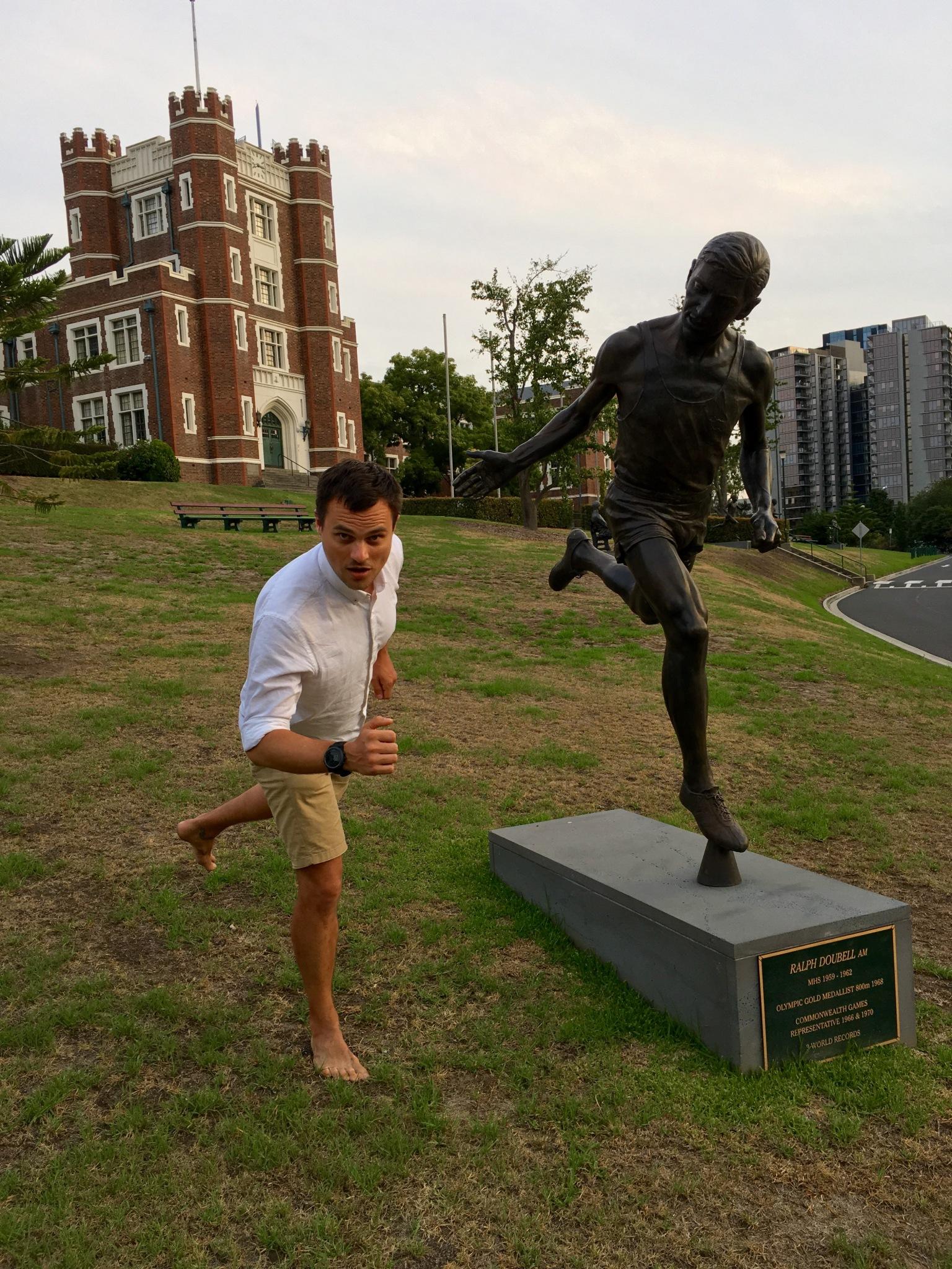 Ralph Doubell statue Melbourne Australia
